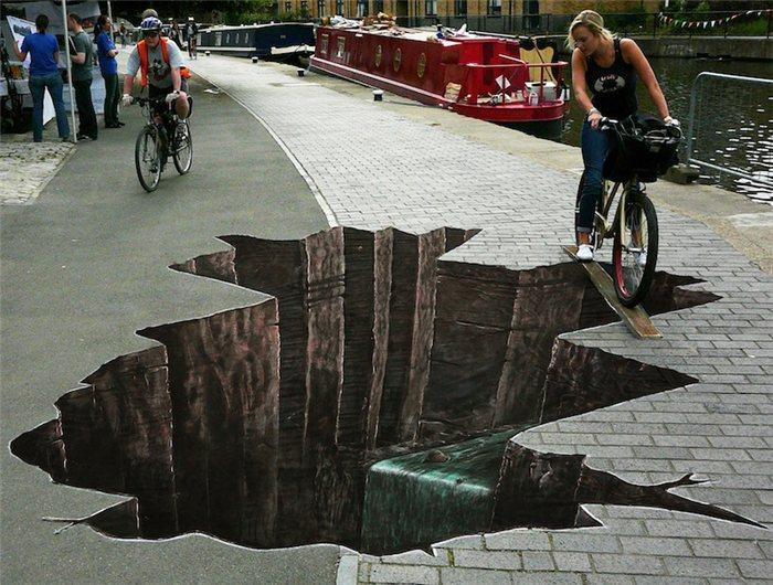 Смотри под ноги! уличный Art