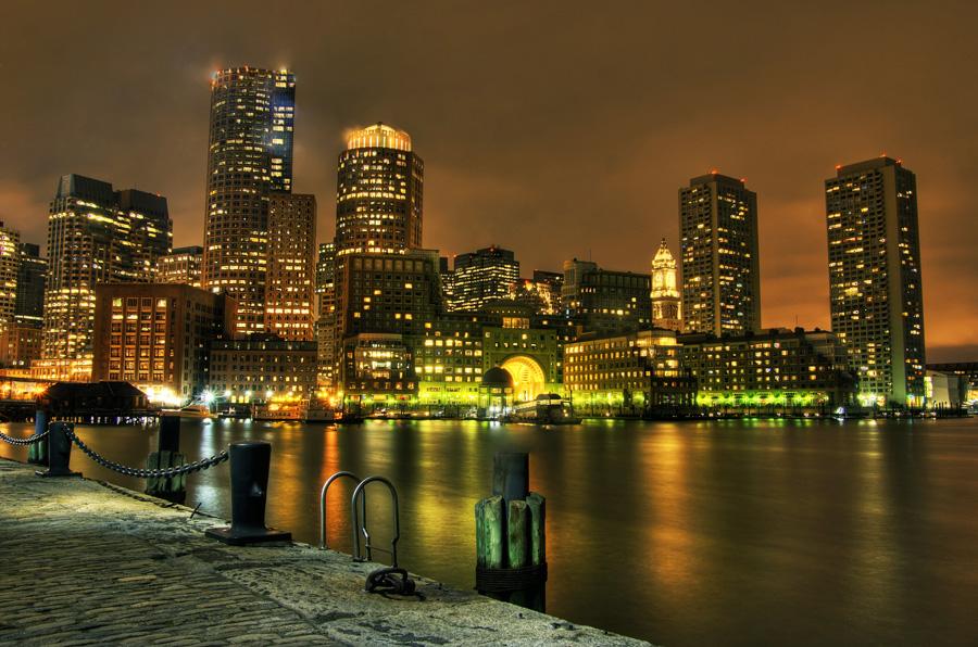 HDR фотографии города Бостон