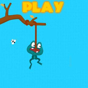 Игра: Лягушка ест мух преодолевая головоломки