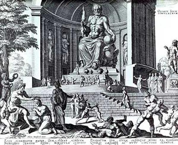 статуя зевса в олимпии -фото