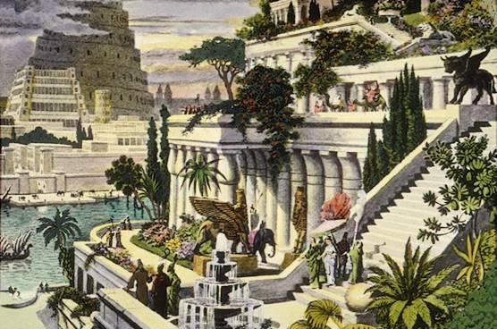 висячие сады семирамиды фото