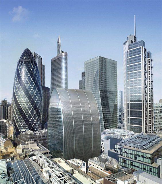 Здание огурец - небоскреб Мери Экс в Лондоне
