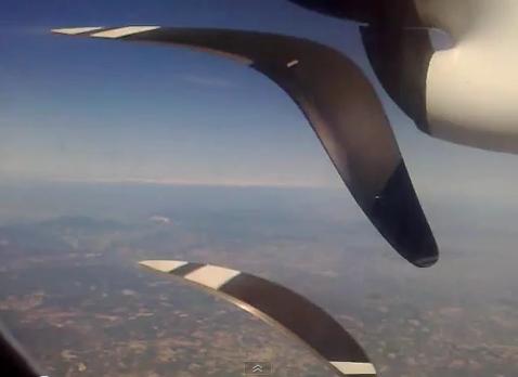 Движение винта самолета – стробоскопический эффект – обман зрения