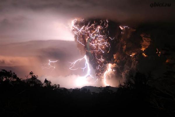 Извержения вулканов в фотографиях
