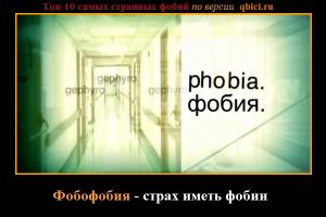 самые странные фобии - фобофобия