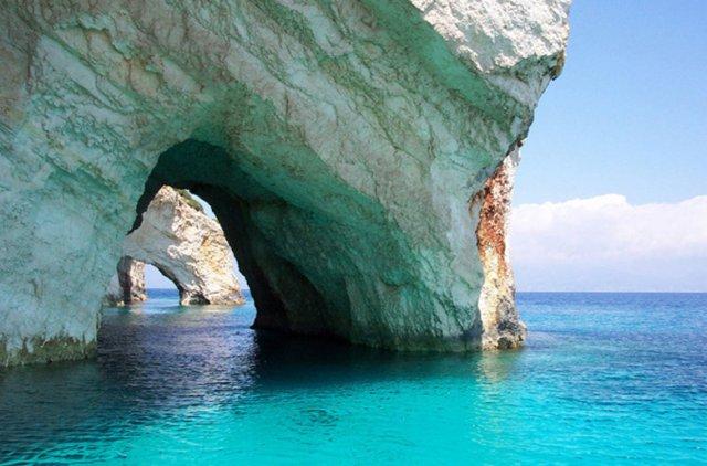 голубые пещеры, закинф, греция