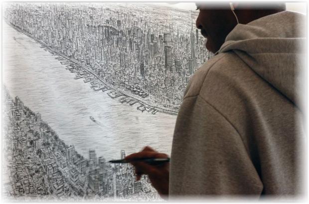 Стивен Вилтшер панорама Нью-Йорка