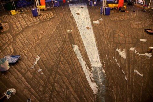 Самый большой в мире 3D рисунок на асфальте