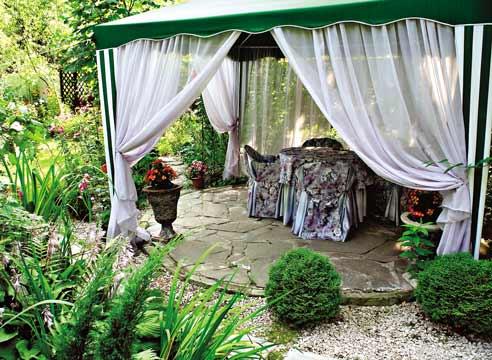 Беседка из садовой палатки? – легко!