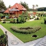 Дизайн двора частного дома.