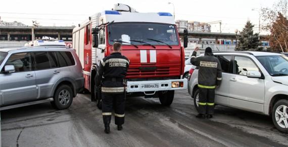 Пожарный тест на перекрестке
