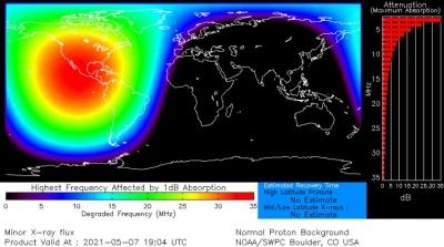 Сильная солнечная вспышка вызвала широкомасштабные радиопомехи по всей Северной Америке