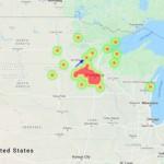 Падение метеорита наблюдали в небе над Миннесотой, США